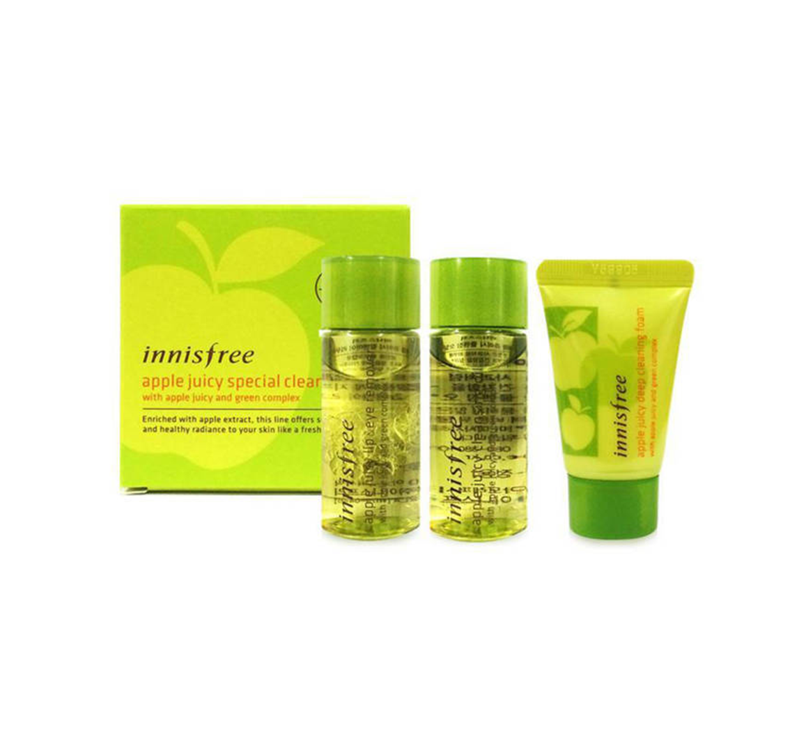 Bộ tẩy trang Apple Juicy Special Cleansing Kit Innisfree