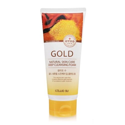 Sữa rửa mặt Cellio su tinh chất vàng